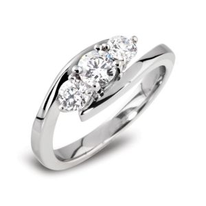 3 Stone Diamond Engagement Ring Main